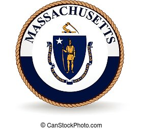 Massachusetts State Seal - Seal of the American state of ...