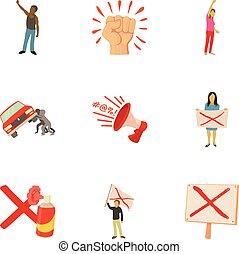 Massacre icons set. Cartoon set of 9 massacre vector icons for web isolated on white background