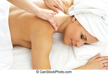 massage #2 - lovely lady in massage salon