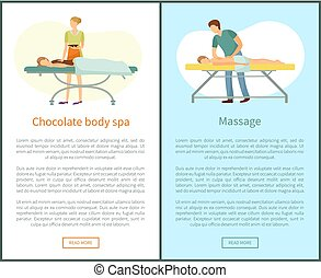 Massage and Chocolate Body Spa Procedures Masseur