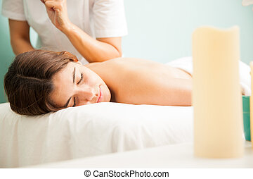 Massage at a health spa