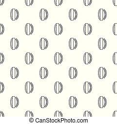 Massage brush pattern vector seamless