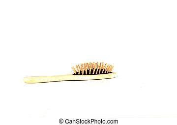 massage comb isolated on white background