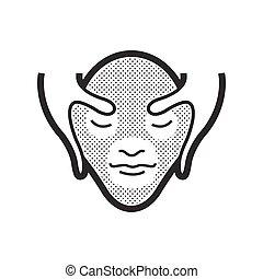 massage facial, icône