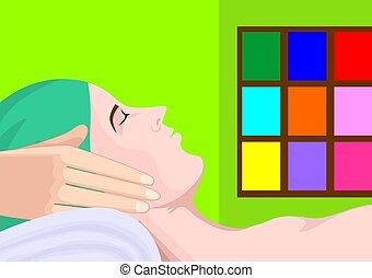 Illustration of hand with massaging