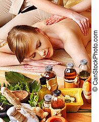 massage, in, schoenheit, spa.