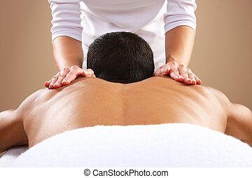 massage, mann