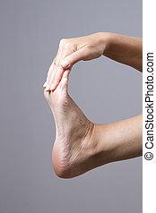 Massage of female feet - SONY DSC
