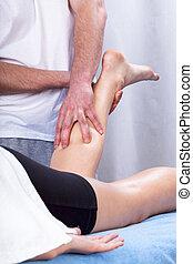 Massage of the calf