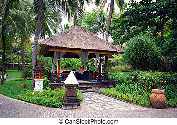 Massage pavilion(Bali, Indonesia) - Massage pavilion at...