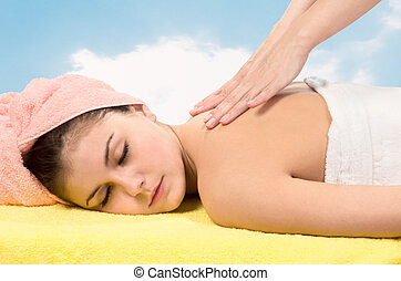 massage, relaxing., spa