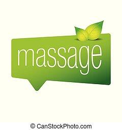Massage sign speech bubble vector