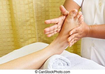 massage, spa foot oil treatment.