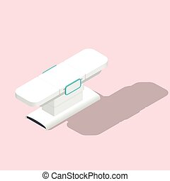 Massage table detailed isometric icon