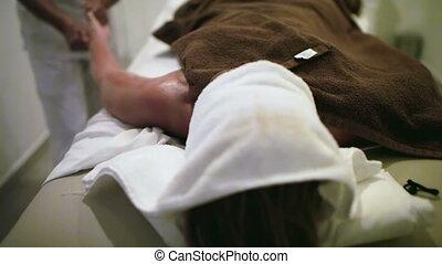 massage therapist, werken aan, schoonheid spa