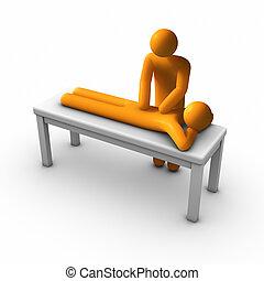 Massage Therapy - Massage therapist massaging.