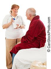 massagem, com, hypoallergenic, loção