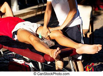 massagem, esportes