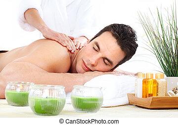 massagem, spa