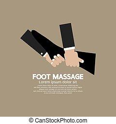 massaggio plantare, rilassante, vector.