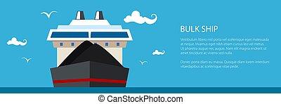 masse, bateau, bannière