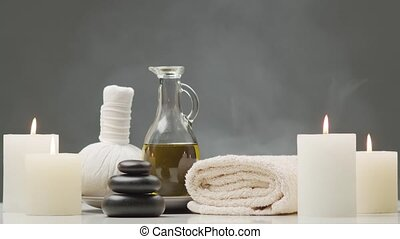 masseren, concept., aromatherapy, behandeling, composition.,...