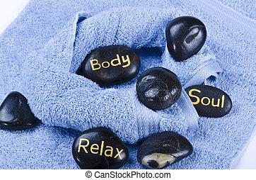 masseren, steen