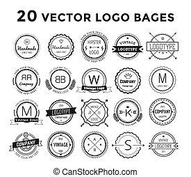 massif, logo, ensemble, paquet, vecteur