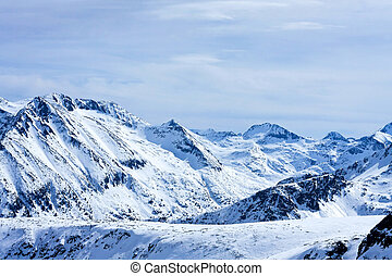 Beautiful massif covered in snow at winter