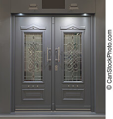 Massive Aluminum Door - Massive Fireproff Front Aluminum...