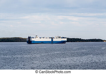 Massive Blue and White Tanker