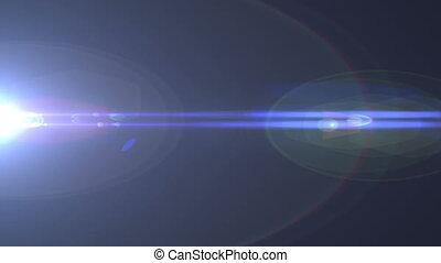 Massive Blue Lens Flare