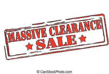 Massive clearance - Rubber stamps with text massive...