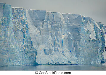 Massive cross section of tabular iceberg