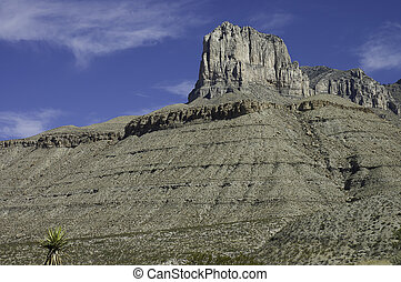 massive limestone formation of El Capitan in Guadalupe Mountains National Parks, Texas, USA
