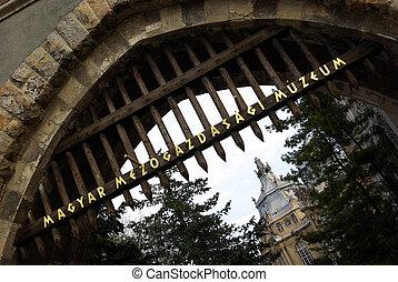 Massive medieval door