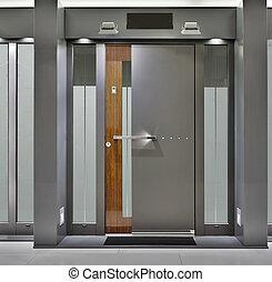 Front Door - Massive Metallic Fireproof Front Door
