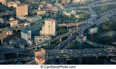 Massive Road System Through City - Aerial view of many roads...