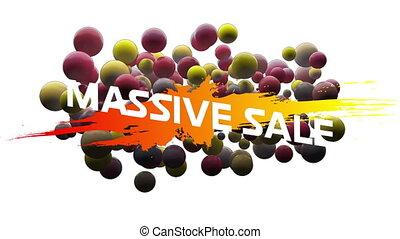 Massive salegraphicwith globules on white background