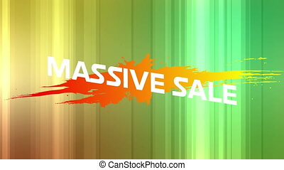 Massive sale graphic on green background