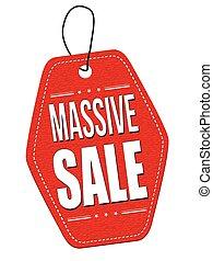 Massive sale leather label or price tag