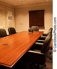 Massive Wood Conference Room Table
