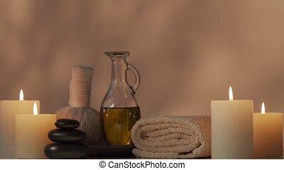 masszázs, concept., aromatherapy, bánásmód, composition.,...