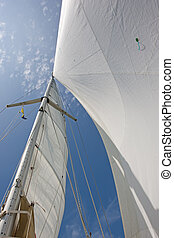 Mast and Sails - Mast and sails of a yacht