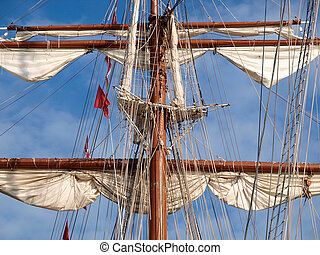 Mast of a ship detail