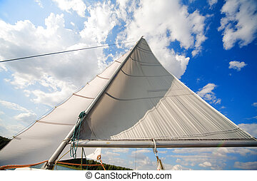 mast of my small private yacht - sailing on the lake - mast ...