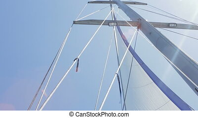 Mast of the yacht HD - Mast of the yacht . Sky on a...