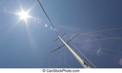 Mast of the yacht HD - Mast of the yacht on the sky...