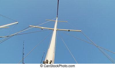 Mast sailing yacht - Beautiful mast sailing vessel.