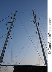 mast, skib